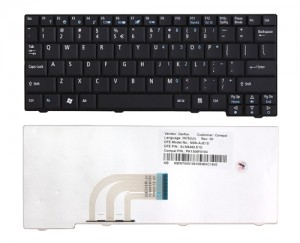 Keyboard Acer Aspire One A110 D150 D250 531H D250 ZG5 - Black