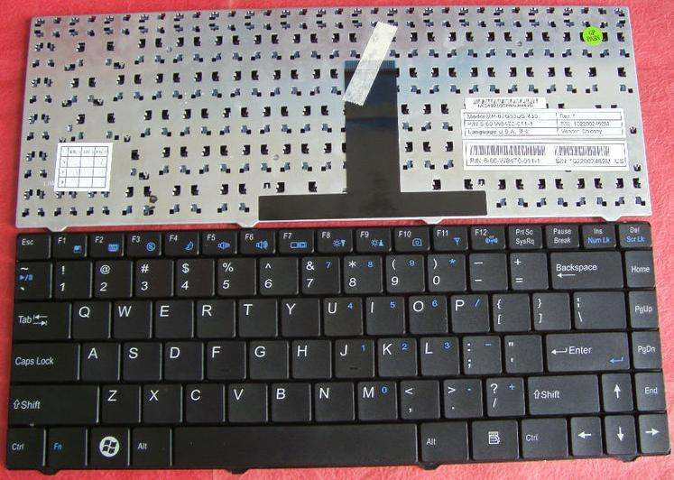 Keyboard Zyrex W243HU, WT4820, LW4343, CLEVO M4121 W840T W84T W4 Hitam