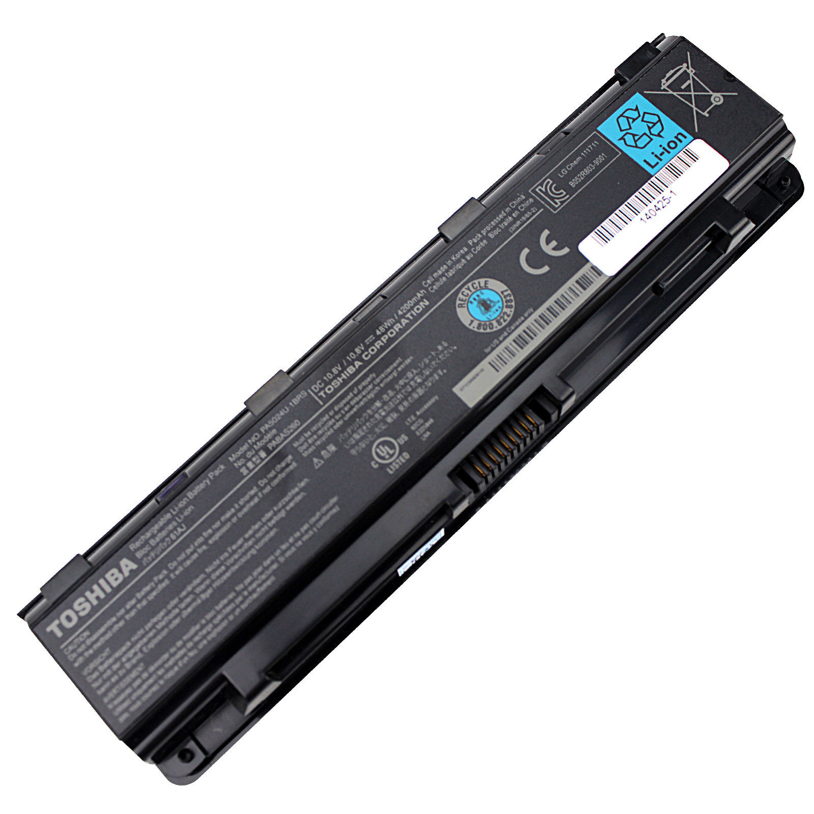Original Baterai Toshiba Satelite C800 C800D C840 C845 C850 C855 C870 L800 L840 L845 L850 L855 L870D, M800 M840 M845 M850, P800 P840 P850 P870 P875D / Satellite S840 S840D / PA5023 PA5024 PA5025 PA5026 PA5027 PABAS259 PABAS260 Garansi 30 hari.