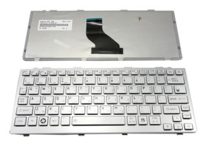 Keyboard for Toshiba Portege & Mini NB200 NB500 T110 T130 - Silver