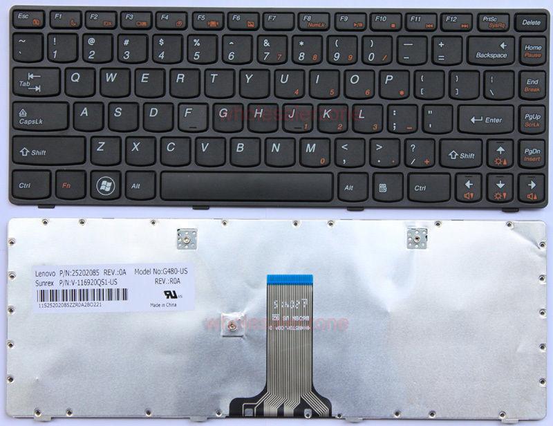 Keyboard Laptop LENOVO G480 G480A, G485 G485A G485G, Z380 Z480 Z485