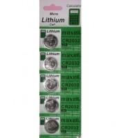 Baterai CMOS CR2032 3V Micro Lithium Coin Lithium Cell Battery 2032 1 slot 5 pcs baterai cmos.